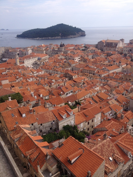 Dubrovnik seen from the city walls, September 2016.